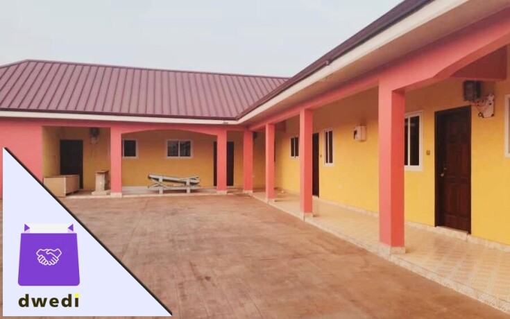 3 BedroomChamber and hall self-contain for rent at school junction around the melcom